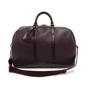 Louis Vuitton Vintage Burgundy Leather Handbag