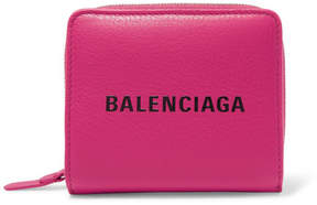 Balenciaga Everyday Printed Textured-leather Wallet - Pink
