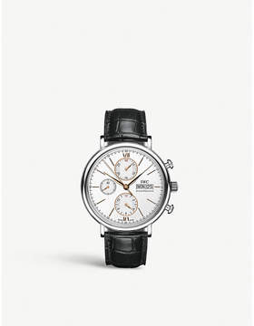IWC IW391022 Portofino stainless steel and leather watch