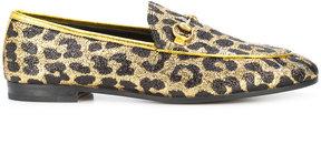 Gucci Jordaan leopard loafers