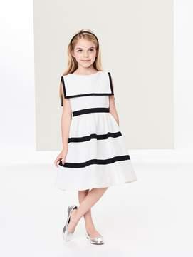 Oscar de la Renta Flower Jacquard Sailor Dress