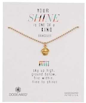 Dogeared 14K Gold Vermeil Your Shine Cupcake Bracelet