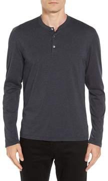 James Perse Men's Long Sleeve Cotton & Cashmere Henley T-Shirt