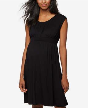 Design History Maternity Smocked Dress