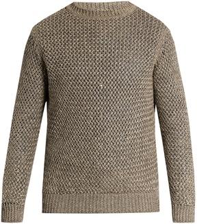 Ermenegildo Zegna Loose-knit linen and cotton-blend sweater