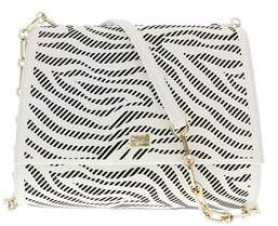 Roberto Cavalli Small Shoulder Bag Audrey 001 White/black Shoulder Bag