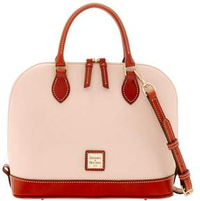 Dooney & Bourke Pebble Grain Zip Zip Satchel - BLUSH - STYLE