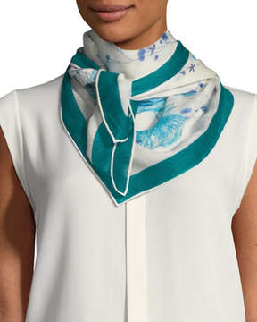 Loro Piana Flowers of the Lake Soffio Scarf