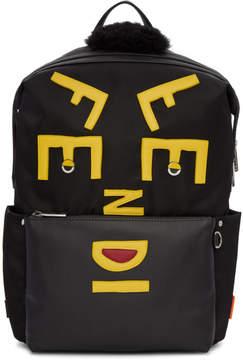 Fendi Black Nylon Logo Backpack