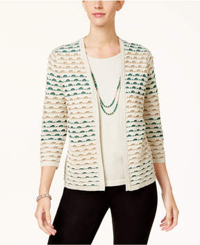 Alfred Dunner Emerald Isle Layered-Look Necklace Sweater