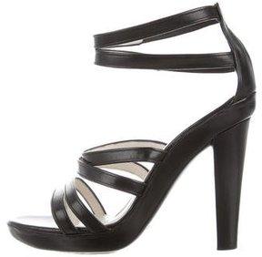 Jil Sander Leather Multistrap Sandals