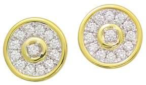 Frederic Sage 18K White & Yellow Gold Firenze Diamond Disc Stud Earrings