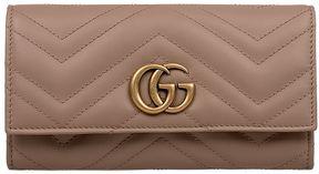 Gucci Blush Gg Marmot Matelasse' Leather Wallet - PINK - STYLE