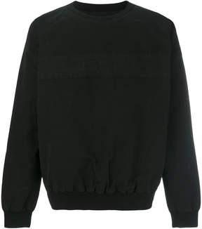 RtA striped panel sweatshirt