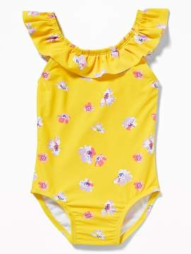Old Navy Ruffled Bow-Tie Back Swimsuit for Toddler Girls