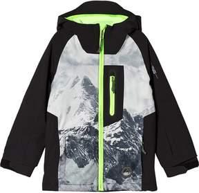 O'Neill Black and Yellow Interior Mountain Ski Jacket