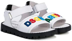 DSQUARED2 logo strap open toe sandals