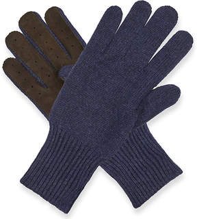 Brunello Cucinelli Knitted cashmere and suede gloves
