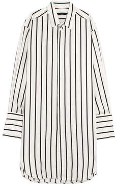 Bassike Oversized Striped Poplin Shirt - White