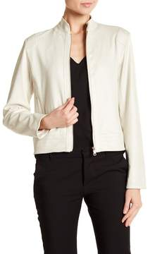 Ellen Tracy Perforated Moto Jacket