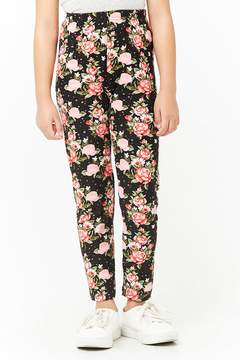 Forever 21 Girls Floral Print Leggings (Kids)