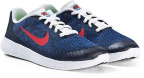 Nike Navy Red and White Free Running Shoes
