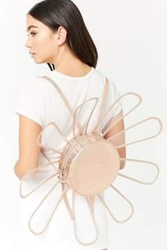 Forever 21 Glittered Round Floral Backpack