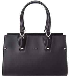Longchamp Paris Premier Small Leather Tote. - BLACK - STYLE