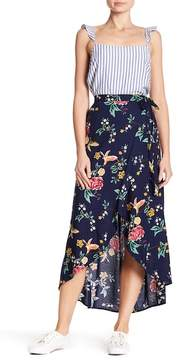 Angie Floral Wrap Skirt