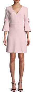 Eliza J Bow Bell-Sleeve Mini Dress