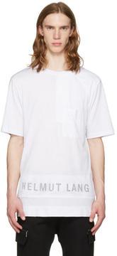 Helmut Lang White Mesh Combo Logo T-Shirt