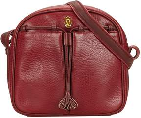 Cartier Vintage C Red Leather Handbag
