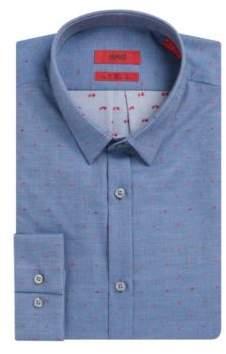 HUGO Boss Scribbled Sport Shirt, Extra Slim Fit Ero S Dark Blue