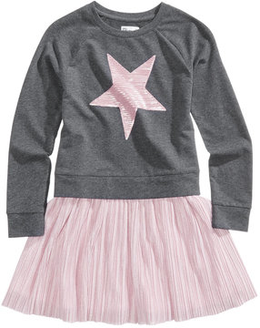 Epic Threads Sequin Star Sweatshirt Dress, Big Girls (7-16), Created for Macy's