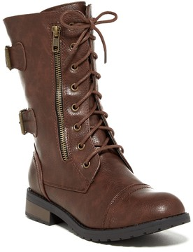 Refresh Terra Faux Leather Lace Boot