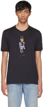 Dolce & Gabbana Navy Royal Cougar T-Shirt