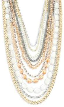 ABS by Allen Schwartz Multi-Row Two-Tone Necklace
