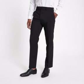 River Island Mens Black tailored fit suit pants