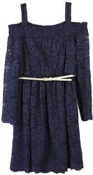 Speechless Girls 7-16 Off Shoulder Lace Belted Dress