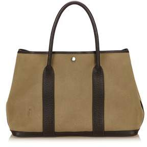 Hermes Pre-owned: Garden Party Pm. - BROWN X KHAKI X BROWN - STYLE