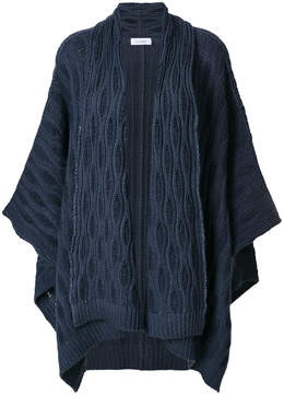 Cruciani cashmere embroidered cape