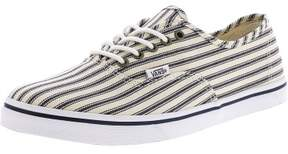 Vans Authentic Lo Pro Engineered Stripes White / Navy Ankle-High Canvas Skateboarding Shoe - 10M 8.5M