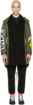 Moschino Green Patchwork Coat