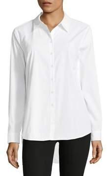 Context Lace Back Button-Down Shirt