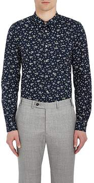 Paul Smith Men's Floral Cotton Poplin Shirt