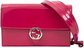 Gucci Patent Leather Clutch Bag - RED - STYLE