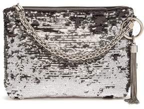 Jimmy Choo Callie Sequinned Tassel Clutch - Womens - Black Multi