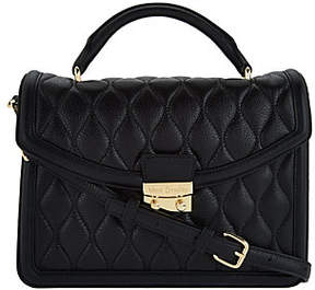 Vera Bradley Quilted Leather Satchel - Lydia - ONE COLOR - STYLE