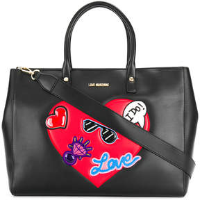Love Moschino heart embellished tote