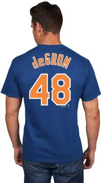 Majestic Men's New York Mets Jacob deGrom Player Name and Number Tee